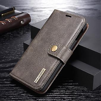 Dg. MING Samsung Galaxy S10e Split leather wallet Case-grey