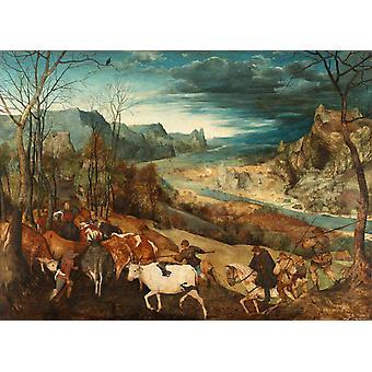 Retour du troupeau, Pieter Bruegel l'Ancien, 50x36cm