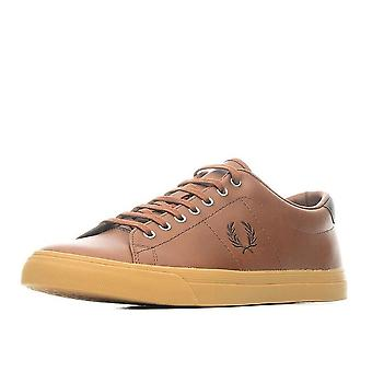 Lateral couro formadores Fred Perry masculino - B9092-C55