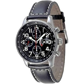 Zeno-Watch Herrenuhr X-Large Pilot Chrono Power Reserve P557TVDPR-a1