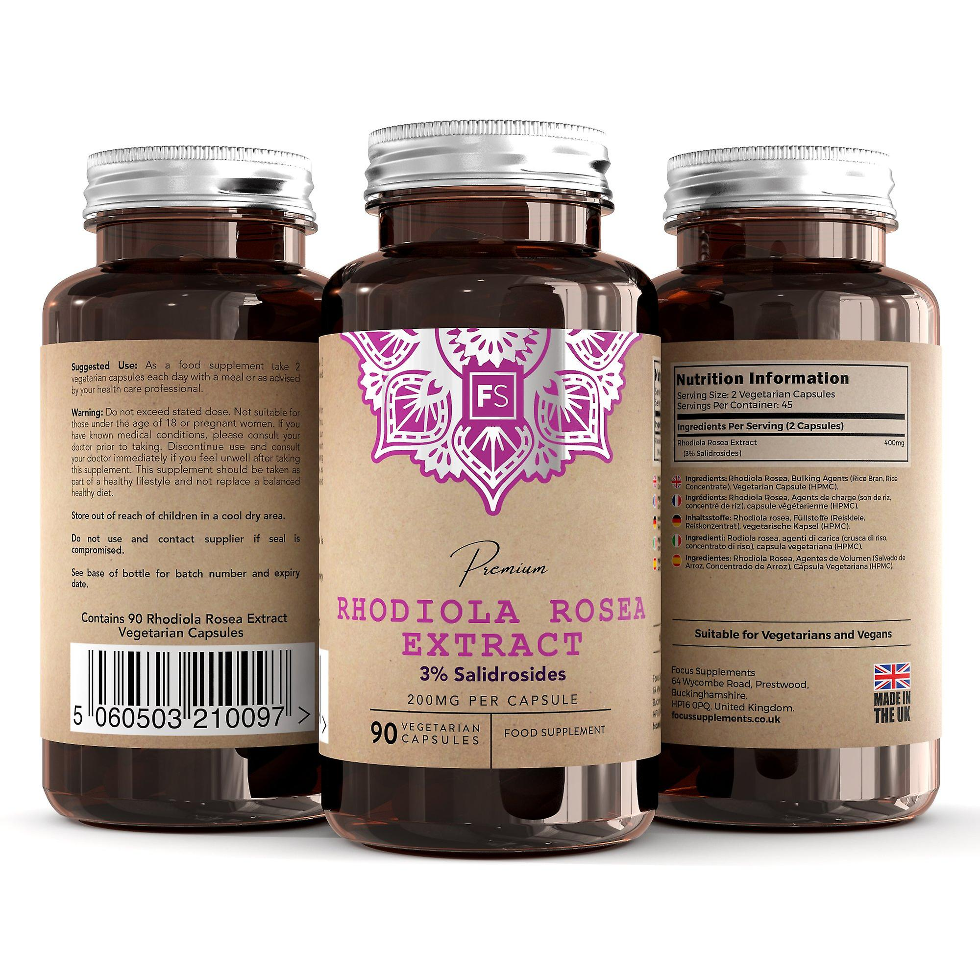Rhodiola Rosea (200mg) 270 Capsules (Vitamins & Supplements , Special Supplements)