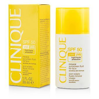 Clinique mineraali aurinko suoja neste kasvoille SPF 50-herkkä ihon kaava-30ml/1oz