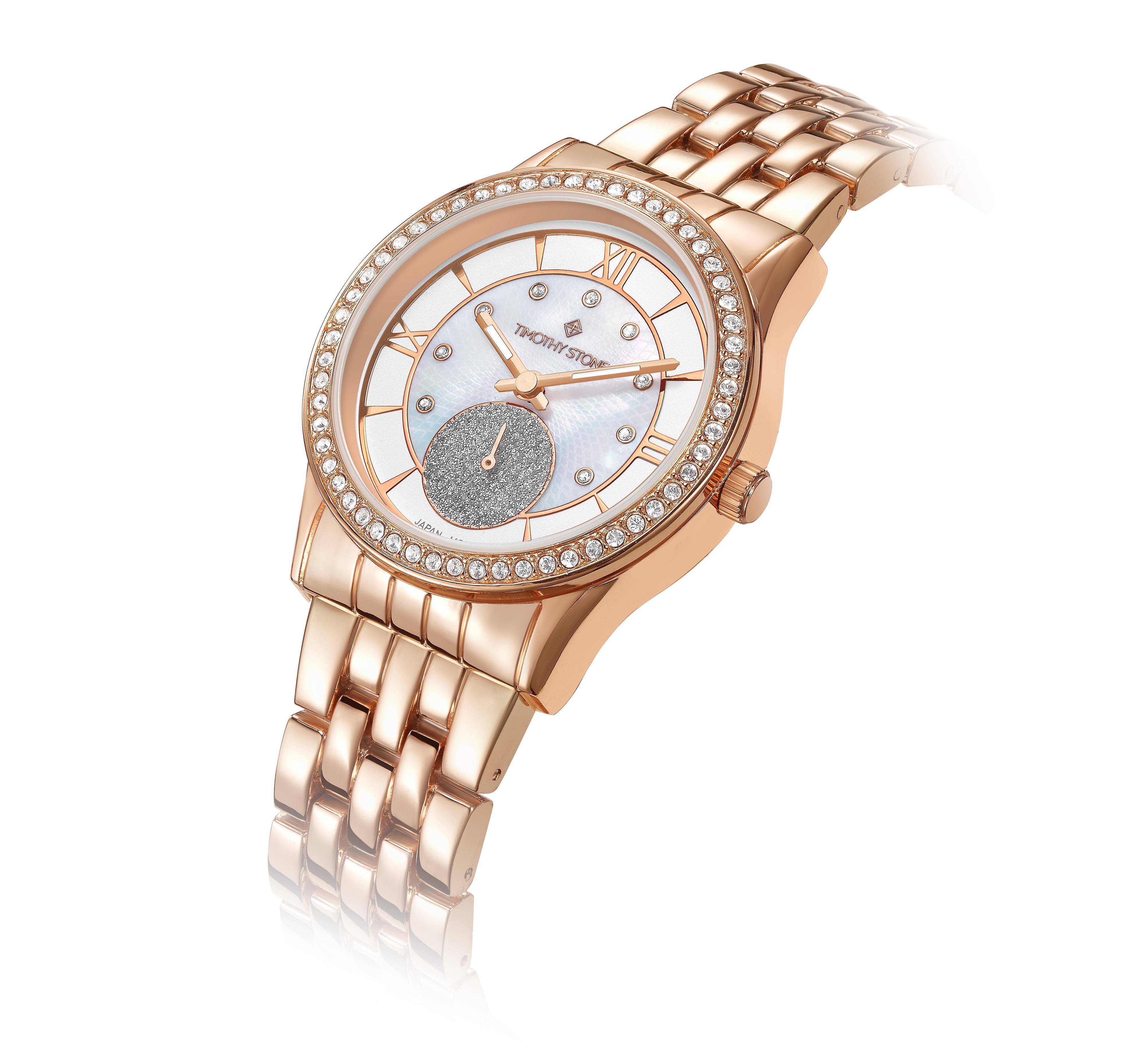 Timothy Stone Women�s HUSTON Rose Gold Watch