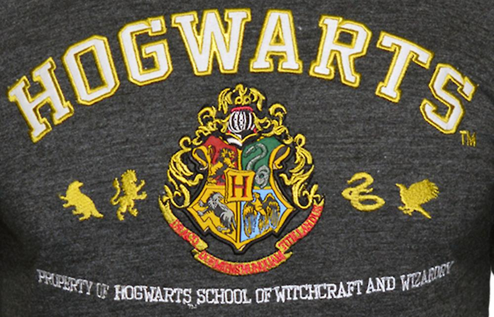 Licensed unisex applique embroidery hogwarts™ t shirt harry potter™