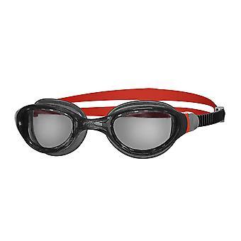 Zoggs zwembrillen 2,0 met anti-mist lenzen in zwart/rood/rook-one size