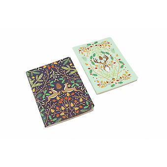 Seasons Greetings cerf Notebooks (Pack de 2)