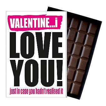 Grappige Valentine's Day gift een onbeleefd ondeugende aanwezig voor mannen & vrouwen 85g chocolade IYF122