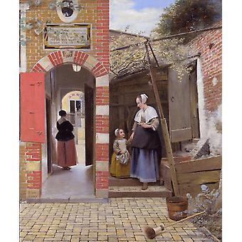 חצר בית בדלפט, פיטר דה Hoand, 60x 73.5 ס מ