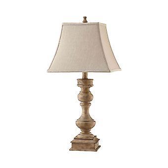 Natural wood, beige linen liam table lamp stein world