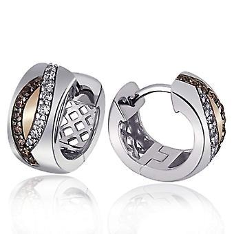 Goldmaid zilveren vrouwen oorbellen met briljante Zirkonia Cubic pa-O6304S