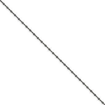 Acero Inoxidable 2.50mm Oxidizado Elegante Cadena Collar Regalos de Joyería para Mujeres - Longitud: 16 a 24