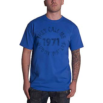 Muddy Waters T Shirt They Call Me new Official Mens Denim Blue