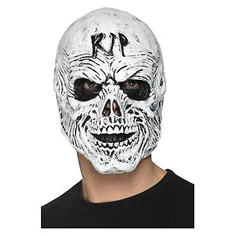 Mens R.I.P Foam Latex Grim Reaper Mask Halloween Fancy Dress Accessory