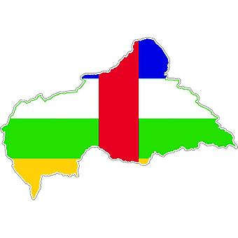 Sticker sticker Adhesif vinyl auto vlag kaart Centrafricai Republic