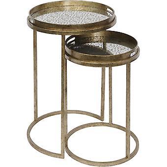 Libra möbler antik guld diamant Tryck boet av sidobord