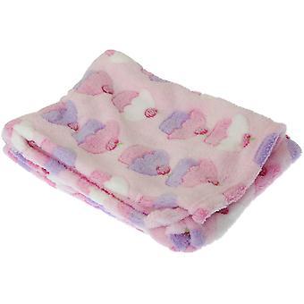 Baby Cupcake/Giraffe Design Boy/Girl Soft Pram Blanket