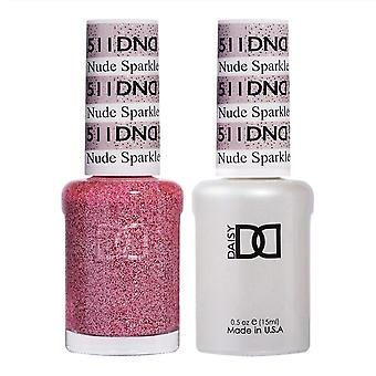 Dnd Duo Gel & Nail Polish Set - Nude Sparkle 511 - 2x15ml