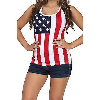 USA flag tank top damer