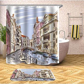 Color Drawing Venice Shower Curtain