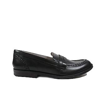 Startrite Fairford Black Leather Gilrs Slip On Loafer School Shoes