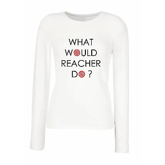 T-shirt long-sleeved white woman wtc1878 what do you reacher do