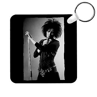 Souxsie Sioux Live Black And White Key Ring