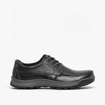Hush Puppies Tucker Mens Leather Casual Shoes Black