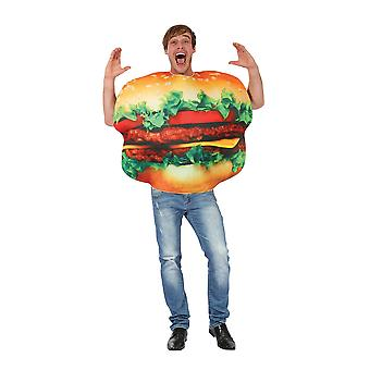 Adults Burger Fancy Dress Costume (One Size)