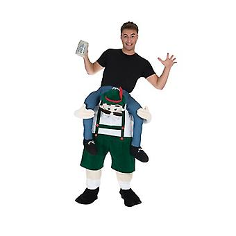Bavarian beer makers piggyback bear me rider costume
