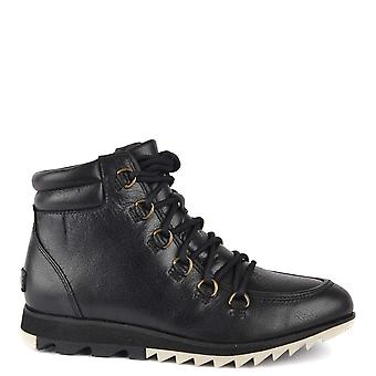 Sorel Harlow Spitze schwarz Leder Stiefel
