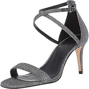 Michael Michael Kors Ava Mid Sandal Black/Silver 9