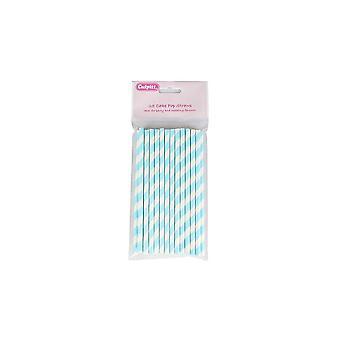 Culpitt Candy Stripe Cake Pop Strohhalme - blau 25 Stück