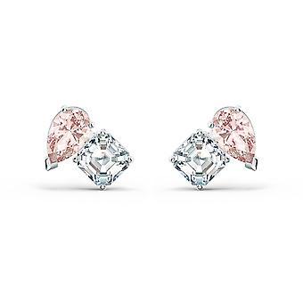 Swarovski örhängen 5517118-dam rosa och vit m tal örhängen