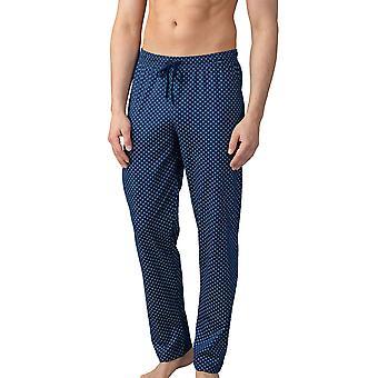 Pantalon de pyjama en coton Mey 21460-664 Pour hommes;s Lounge Neptune Blue Motif Cotton Pyjama