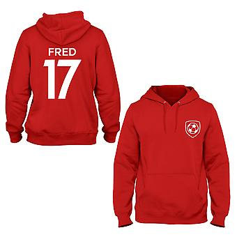 Fred 17 Manchester United Style Player Kids Hoodie