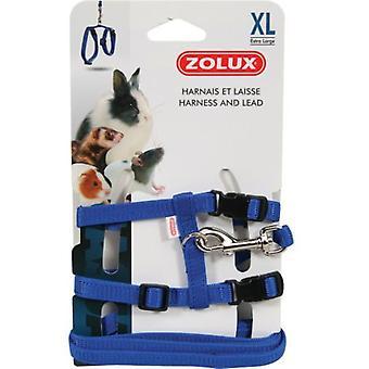 Zolux Arnes + Correa Blue Rabbit L (Small pets , Leads & Harnesses)