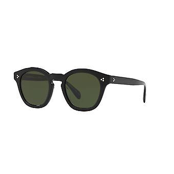 Oliver Peoples Boudreau L.A OV5382SU 100571 Black/Vibrant Green Sunglasses