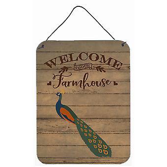 Indian Peacock Peafowl Welcome Wall or Door Hanging Prints