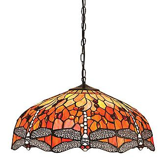 Dragonfly Flame Large 3lt Pendant 60w