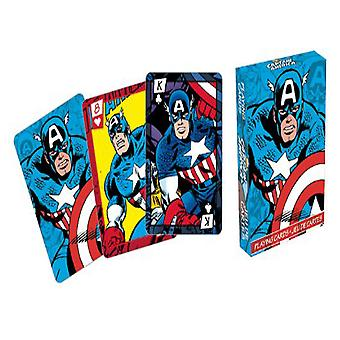 Marvel Captain America Comics Playing Cards