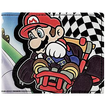 Super Mario Kart Racing Checkered Flag ID & cartão Bi-Fold carteira