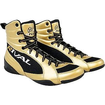 RIVAL Boxing RSX-Guerrero Deluxe Mid-Top Boxing Boots - Gold