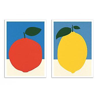 2 Plakaty artystyczne - Duo Orange and Lemon - Rosi Feist