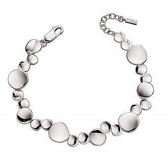 Fiorelli Silver Organic Pringle Tennis Bracelet