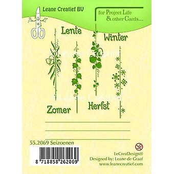 LeCrea - PL&Cards clear stamp Seasons Dutch text 55.2069