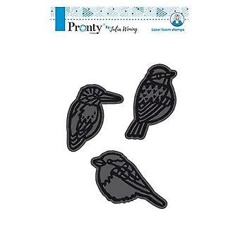 Pronty Foam stamps 70x53mm 3 Birds 494.904.003 Julia Woning