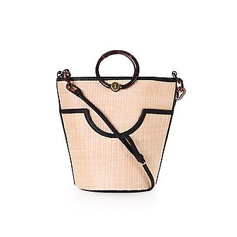 Ted Baker Womens Accessories Amayi Resin Handle Straw Bucket Bag