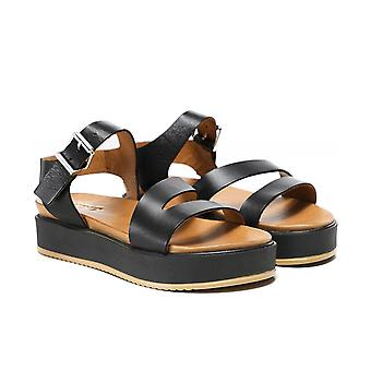 Inuovo Leather Flatform Sandals