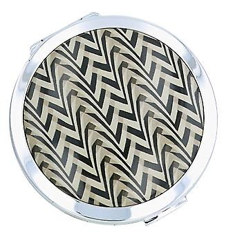 Stratton V & A Collection Deco Chevron Dual Mirror 70mm