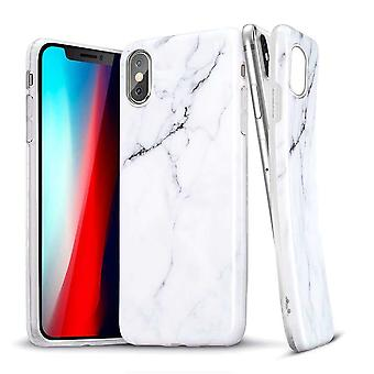 ESR Backcover Hoesje Marble iPhone XS Max - Zwart